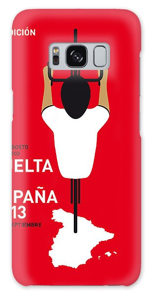Bicycle Galaxy S8 Case - My Vuelta A Espana Minimal Poster - 2013 by Chungkong Art