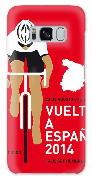Bicycle Galaxy S8 Case - My Vuelta A Espana Minimal Poster 2014 by Chungkong Art