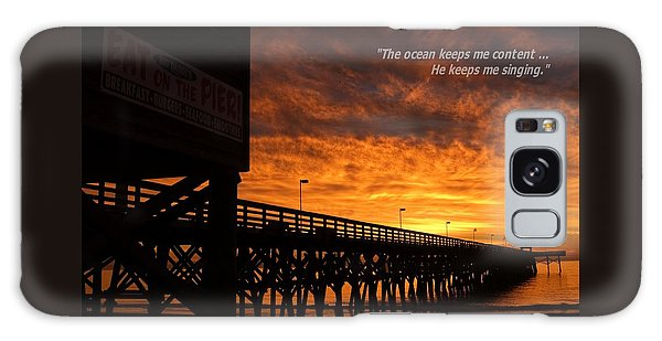 Myrtle Beach Singing Quote Galaxy Case