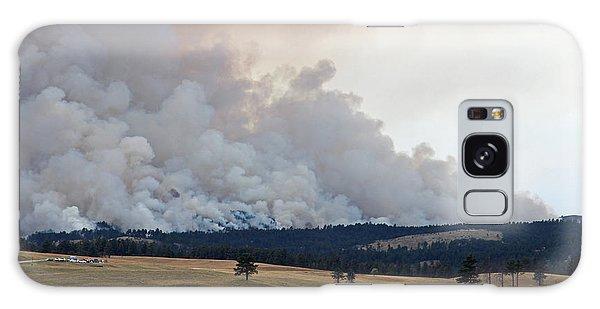 Myrtle Fire West Of Wind Cave National Park Galaxy Case by Bill Gabbert