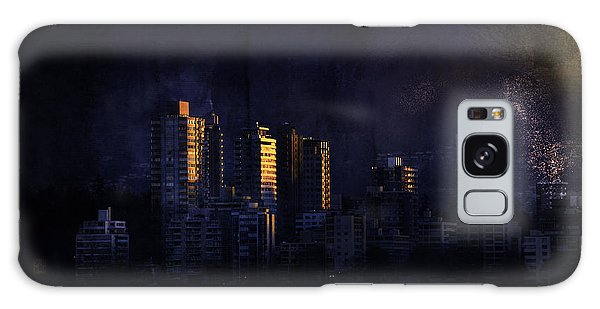 Mystic Orange Glowing Sunrise On Vancouver   Galaxy Case