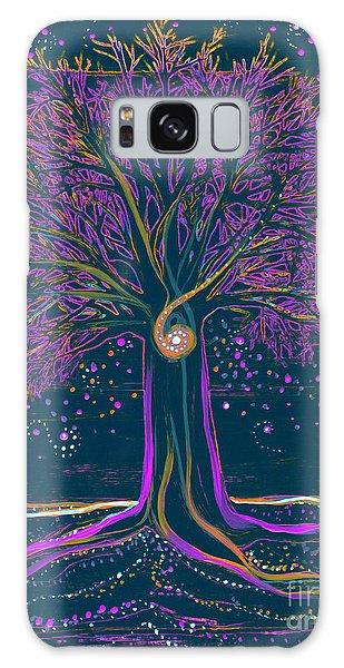 Mystic Spiral Tree 1 Purple Galaxy Case