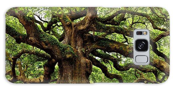 Green Leaf Galaxy Case - Mystical Angel Oak Tree by Louis Dallara