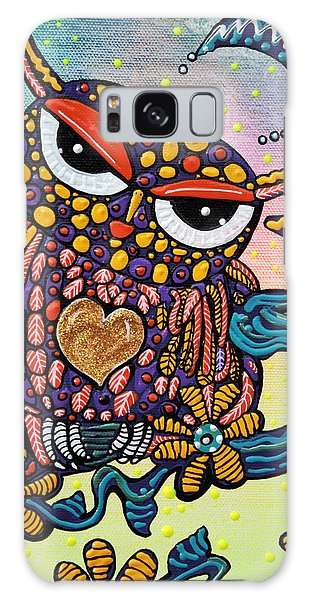 Feather Stars Galaxy Case - Mystical Owl by Laura Barbosa