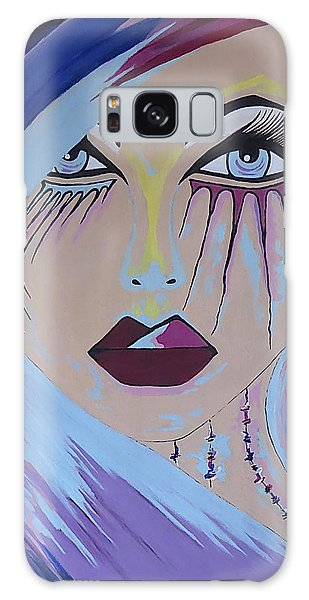Naira - Contemporary Woman Painting Galaxy Case