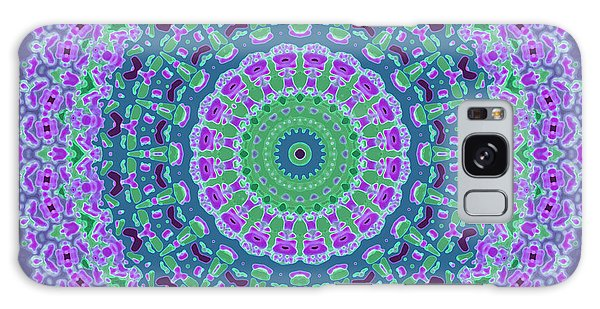 Galaxy Case featuring the digital art Nantucket Cottage Mandala by Joy McKenzie
