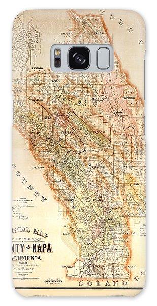 Napa Valley Map 1895 Galaxy Case