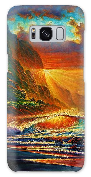 Napali Coast Sunset Galaxy Case