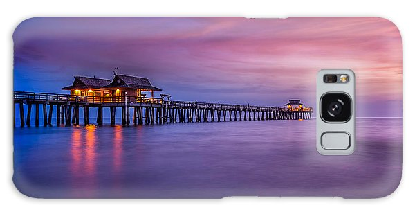 Naples Pier Purple Sunset Galaxy Case
