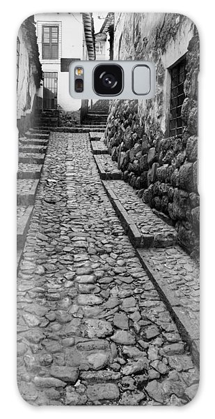 Narrow Street In Cusco Galaxy Case by Alexey Stiop