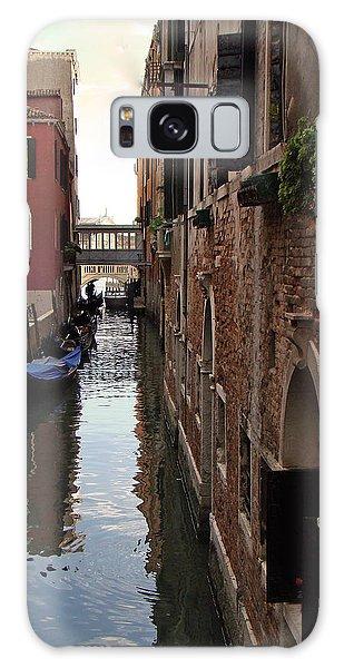 Venice Narrow Waterway Galaxy Case by Walter Fahmy
