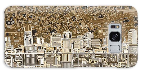 Nashville Skyline Abstract 2 Galaxy Case
