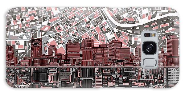 Nashville Skyline Abstract 3 Galaxy Case
