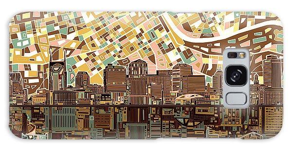 Nashville Skyline Abstract 4 Galaxy Case