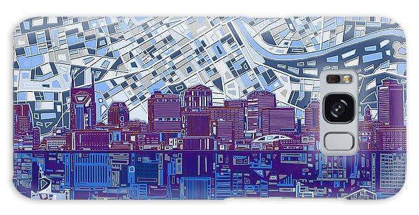 Nashville Skyline Abstract 8 Galaxy Case