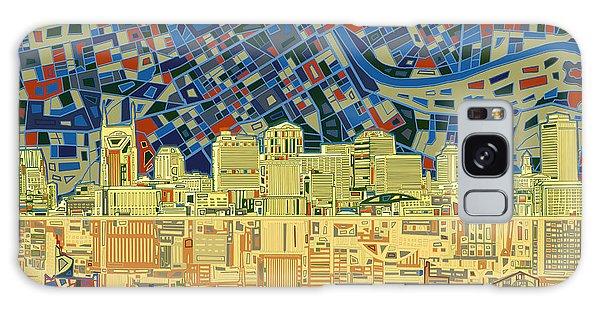 Nashville Skyline Abstract 9 Galaxy Case
