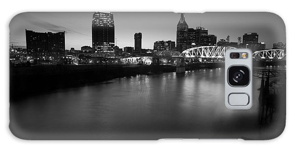 Nashville Skyline Black And White Galaxy Case