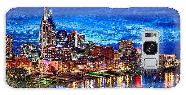 Nashville Skyline Galaxy Case by Dan Holland