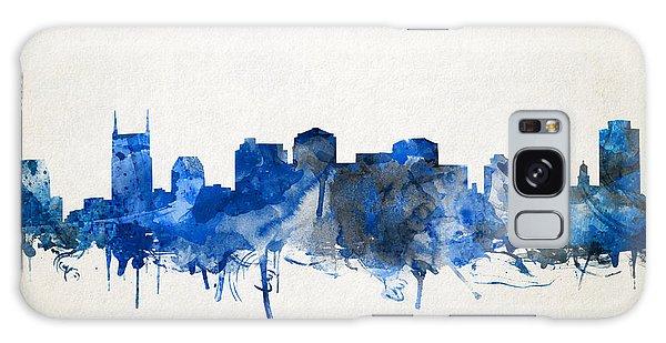 Nashville Skyline Watercolor 11 Galaxy Case