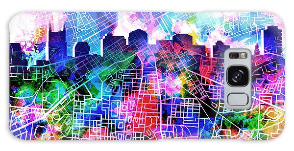 Nashville Skyline Watercolor 5 Galaxy Case