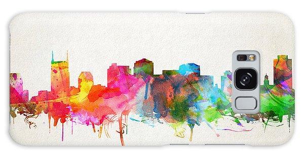 Nashville Skyline Watercolor 9 Galaxy Case