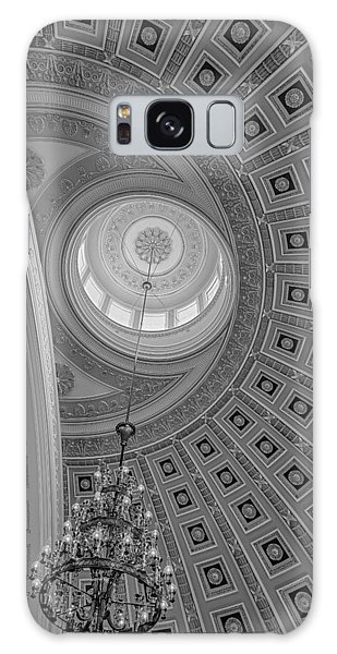 Galaxy Case featuring the photograph National Statuary Rotunda Bw by Susan Candelario