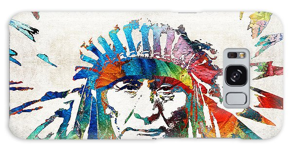 Dress Galaxy Case - Native American Art - Chief - By Sharon Cummings by Sharon Cummings