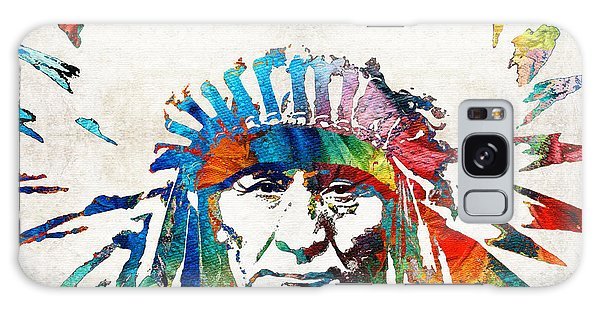 Native American Art - Chief - By Sharon Cummings Galaxy Case