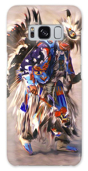 Native American Dancer Galaxy Case by Clare VanderVeen