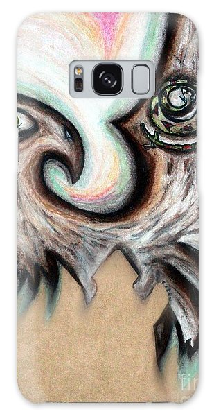 Native American Eye Of The Eagle 1 Galaxy Case by Ayasha Loya