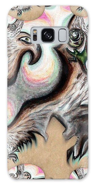 Native American Eye Of The Eagle 2 Galaxy Case by Ayasha Loya