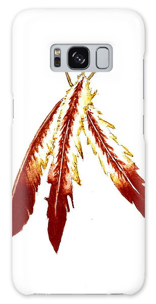 Feathers Galaxy Case - Native American Feathers  by Michael Vigliotti