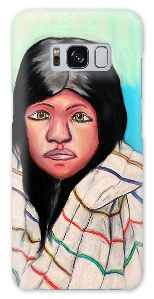Native American Girl 1 Galaxy Case by Ayasha Loya