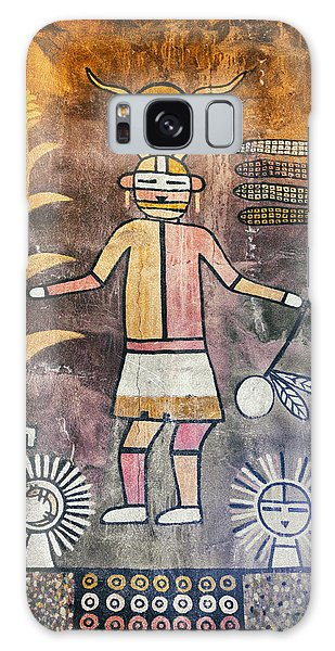 Native American Harvest Pictograph Galaxy Case