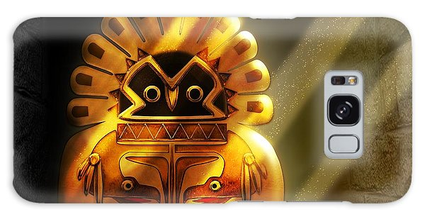 Native American Hawk Spirit Gold Idol Galaxy Case