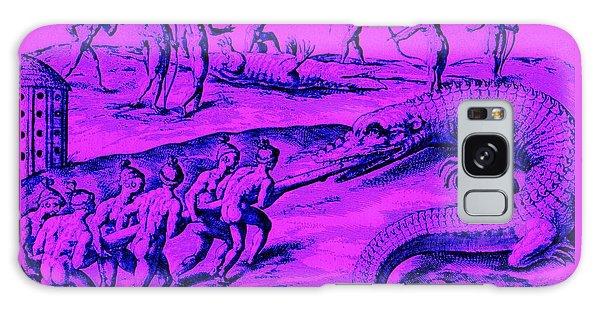 Native American Indian Alligator Hunt Galaxy Case by Peter Gumaer Ogden