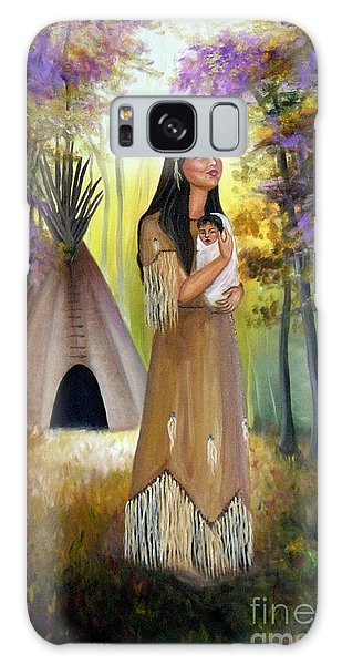 Native American Mother And Child Galaxy Case
