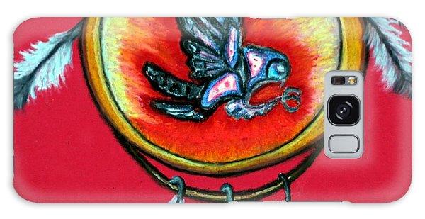 Native American Owl Symbol 1 Galaxy Case by Ayasha Loya