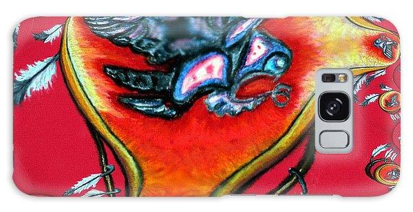 Native American Owl Symbol 2 Galaxy Case by Ayasha Loya