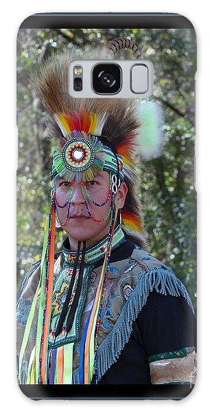 Native American Portrait Galaxy Case