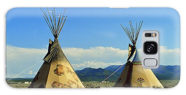 Native American Teepees  Galaxy Case by Dora Sofia Caputo Photographic Art and Design
