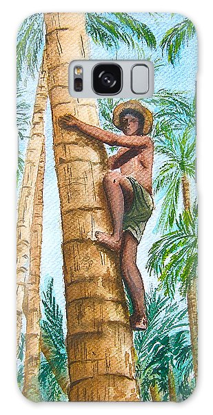 Native Climbing Palm Tree Galaxy Case