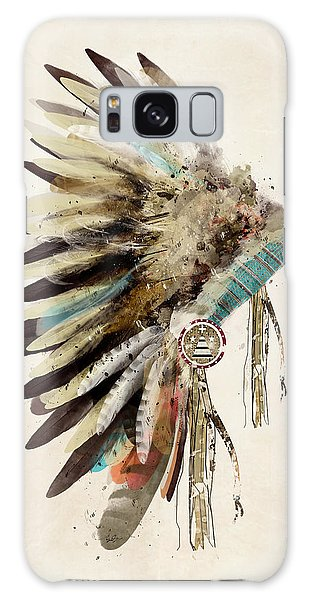 Native Headdress Galaxy Case by Bri B