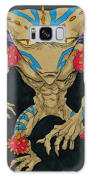 Native Lurcher Galaxy Case by John Ashton Golden