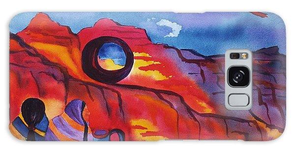 Native Women At Window Rock Galaxy Case by Ellen Levinson