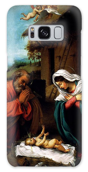 Nativity Galaxy Case by Lorenzo Lotto