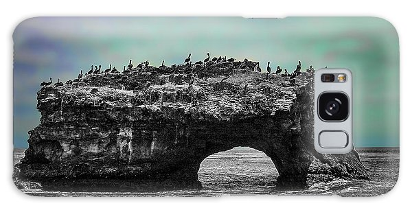 Natural Bridges State Beach Galaxy Case