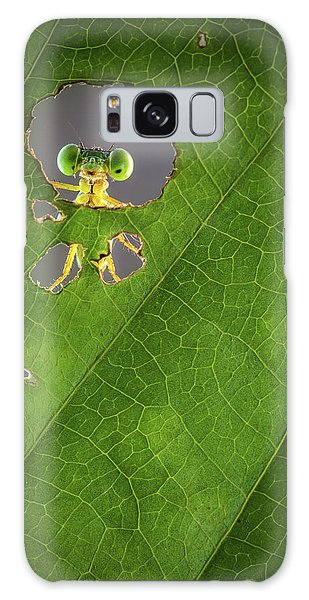 Green Leaf Galaxy Case - Nature Frame by Wilianto