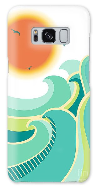 Nature Galaxy Case - Nature Seascape Poster Background With by Tancha