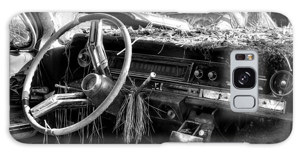 Nature Takes Over A Cadillac In Black And White Galaxy Case